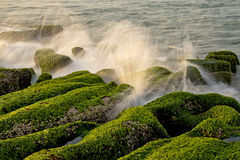 Taiwan coast Laomei shicao. Stone trench of Taiwan coast royalty free stock image