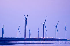 Taiwan coast wind power Stock Images