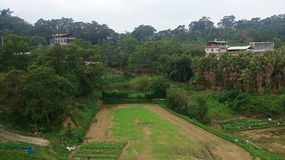 Taiwan countryside new empty plot of land Stock Photography