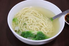 Taiwan goose broth. Taiwan cuisine in Hualien: goose broth noodle soup royalty free stock photography