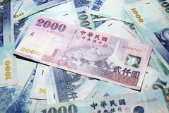 Taiwan currency. Royalty Free Stock Photo