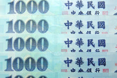 Taiwan currency. Royalty Free Stock Image