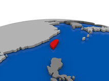 Taiwan on 3D globe Stock Photo