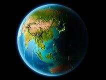 Taiwan in de avond Royalty-vrije Stock Afbeelding