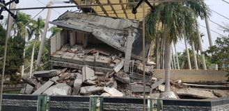 Taiwan Earthquake Memory. A sad story behind.Look and learn how to safe when earthquake come, Taiwan royalty free stock photography