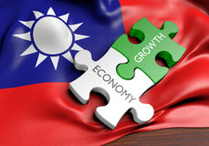 Taiwan economy and financial market growth concept. 3D rendered concept of Taiwan`s economy and financial market growth Royalty Free Stock Photo