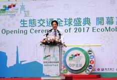 Taiwan Eerste William Lai Speaks Royalty-vrije Stock Afbeelding