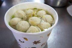 Taiwan fa un spuntino, polvere dell'inverno, minestra della palla di pesce, pesce vela del Pacifico, minestra della palla di pesc Fotografie Stock Libere da Diritti