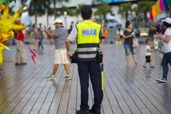 Taiwan Temple Fair, Security Watch, Police Patrol, Security Guard royalty free stock photos