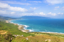 Taiwan famous Sightseeing attractions. Kenting National Park. With blue sky royalty free stock photography
