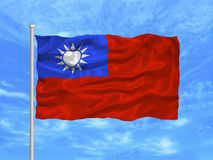 Taiwan Flag 1 Stock Photo