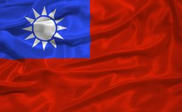 Taiwan Flag 3 Stock Photography
