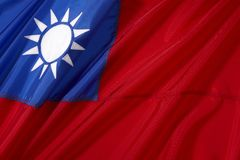 Taiwan Flag Royalty Free Stock Image