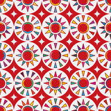Taiwan flag abstract Japan red sun seamless pattern Stock Image