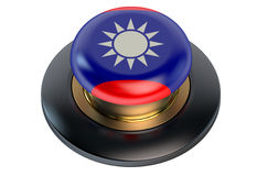 Taiwan flag button Royalty Free Stock Photos