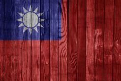 Taiwan FLAG PAINTED ON WOOD cool. Taiwan FLAG PAINTED ON WOOD stock images