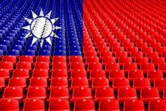 Taiwan flag stadium seats. Sports competition concept. Taiwan flag stadium seats. Sports competition concept stock image