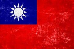 Taiwan flagga Royaltyfria Bilder