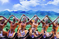 Taiwan gaoshan nationality dance Royalty Free Stock Images