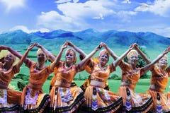 Taiwan gaoshan nationality dance Royalty Free Stock Images