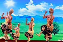 The taiwan gaoshan nationality dance Stock Photos