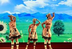 Taiwan gaoshan nationality dancer watching Stock Images