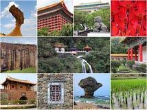 Taiwan gränsmärkecollage arkivbilder