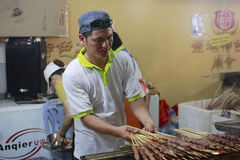 Taiwan grilled meat Royalty Free Stock Photography