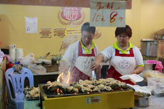 Taiwan grilled oyster Royalty Free Stock Photography