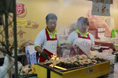 Taiwan grilled oyster Stock Photography