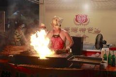 Taiwan ha grigliato la vista di notte della carne Immagine Stock Libera da Diritti