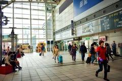 Taiwan High Speed Rail (THSR) station platform Stock Images