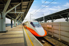 Taiwan High Speed Rail (THSR) station platform Stock Photo