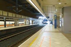 Taiwan High Speed Rail THSR station platform. At Taipei Main Station Royalty Free Stock Image