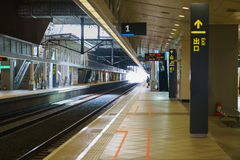 Taiwan High Speed Rail THSR station platform. At Taipei Main Station Stock Image