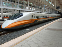 Taiwan high speed train Royalty Free Stock Image