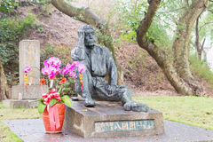 TAIWAN - 15. Januar 2016: Yoichi Hatta Statue an Wushantou-Verdammung ein Fa Lizenzfreie Stockbilder