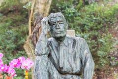 TAIWAN - 15 januari 2016: Yoichi Hatta Statue bij Wushantou-Dam FA Stock Foto