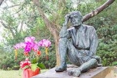 TAIWAN - 15 januari 2016: Yoichi Hatta Statue bij Wushantou-Dam FA Stock Foto's