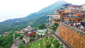 Taiwan Jiufen scenery at Taiwan old gold mine Stock Photo