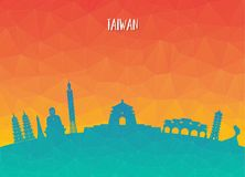 Taiwan Landmark Global Travel And Journey paper background. Vect. Or Design Template.used for your advertisement, book, banner, template, travel business or Royalty Free Stock Photography