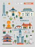 Taiwan landmarks Royalty Free Stock Image