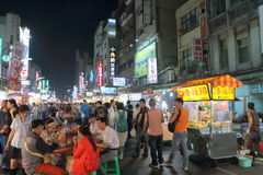 Taiwan : Liuhe Night Market Royalty Free Stock Image