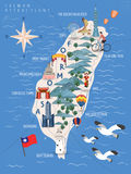 Taiwan loppaffisch vektor illustrationer