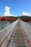 Taiwan-Mandschuhafenzugbrücke Lizenzfreies Stockbild