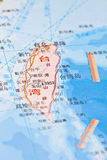 Taiwan map background Stock Photography