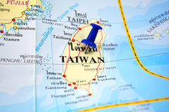 Taiwan map Stock Image