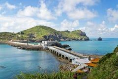 Taiwan Matsu sightseeing attractions. The beautiful coast of Taiwan Matsu Stock Images