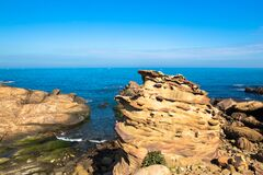 Free Taiwan Nanya Is Noted For Its Fantastic Rock Formations And Sea-eroded Coral Shore Stock Image - 175582711