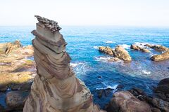 Free Taiwan Nanya Is Noted For Its Fantastic Rock Formations And Sea-eroded Coral Shore Royalty Free Stock Images - 175582739